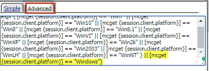 Windows expression for Windows 10