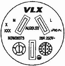 k13435 Nema 6 -20R Wiring-Diagram 250 volts 20