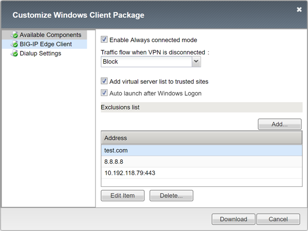 Screenshot Customize Window Client Package