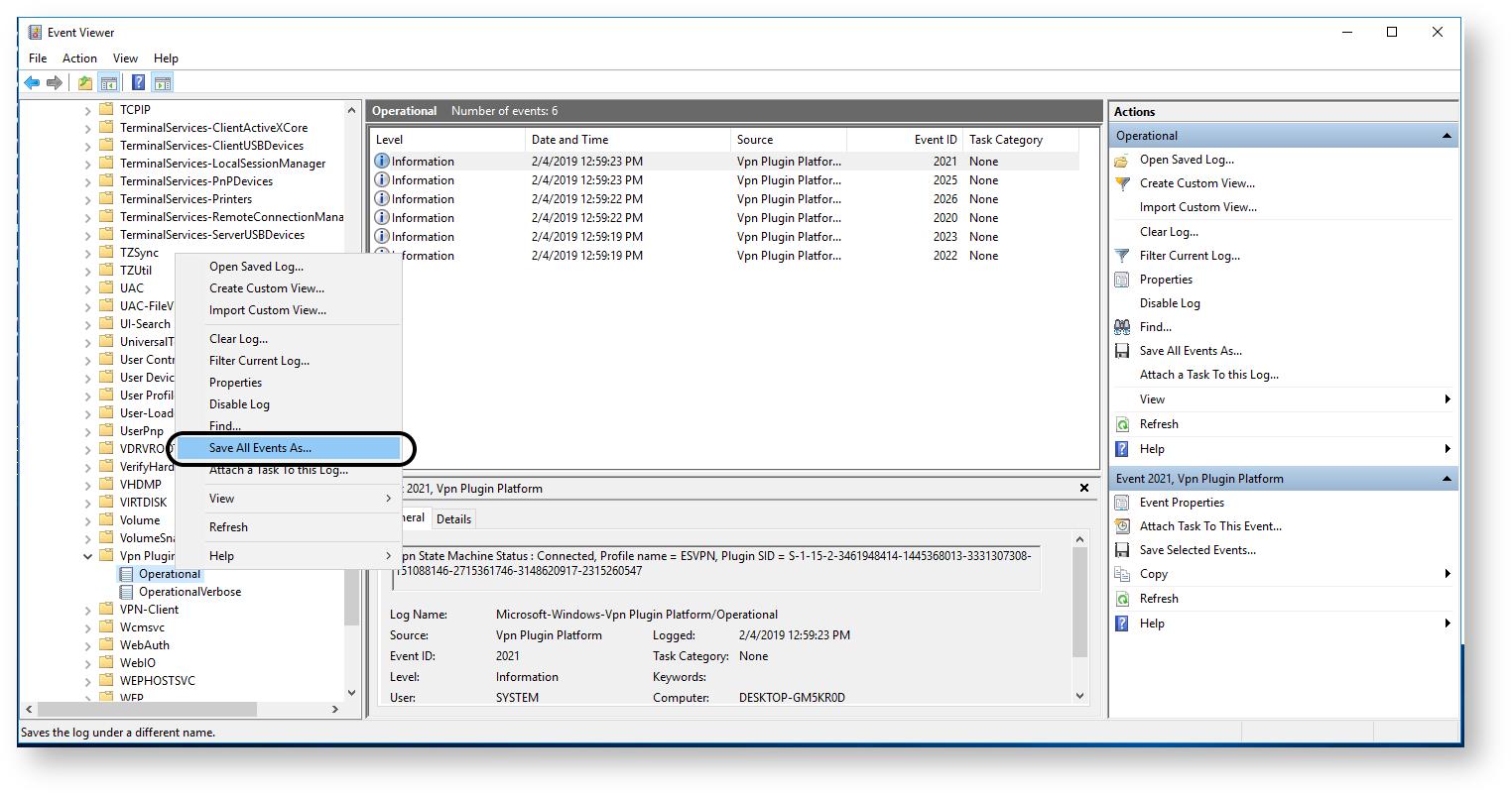 K00819308 - Gathering F5 VPN Client Logs