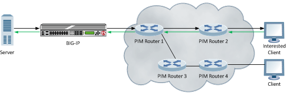 A video stream multicast routing configuration