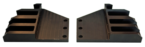 Center-mount brackets for 19-inch rack