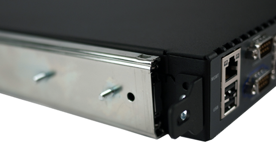 Front        mounting bracket attached to outer and inner rail