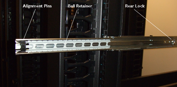 Proper position of ball retainer in extended outer        rail