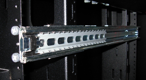 Outer slide in rack