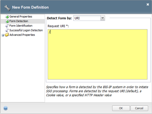 Form-based client-initiated SSO form detection window