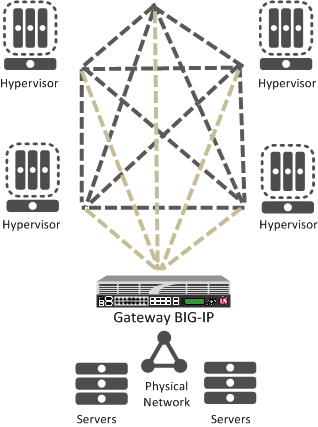 BIG-IP system as a network virtualization gateway
