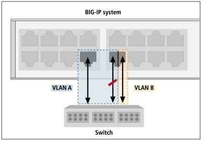A local BIG-IP system that transmits and receives LLDPDUs
