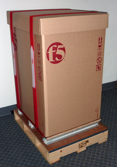 Shipping box with RMA straps