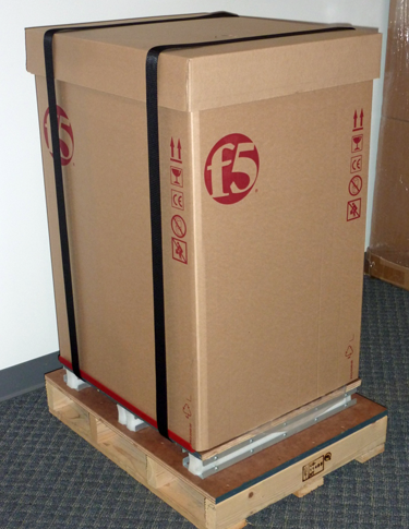 Shipping box with factory straps