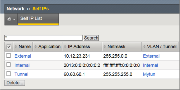 Self IP addresses required for a MAP configuration