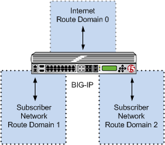 Multiple subscriber networks connecting to Internet servers in Internet Route Domain     0