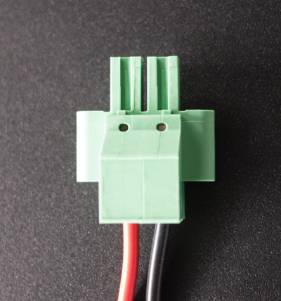 Example of wired DC plug