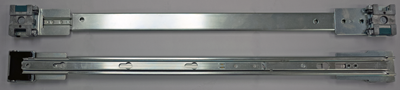 Four-point rack mounting rails