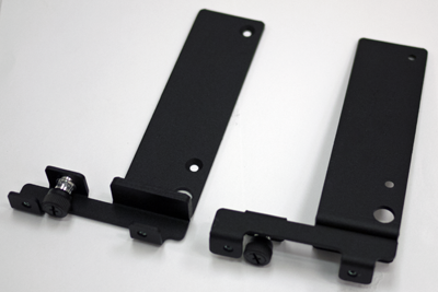 Four-point rack mounting brackets