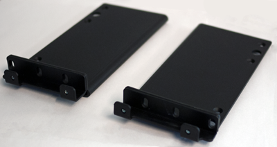 Two-point rack mounting brackets