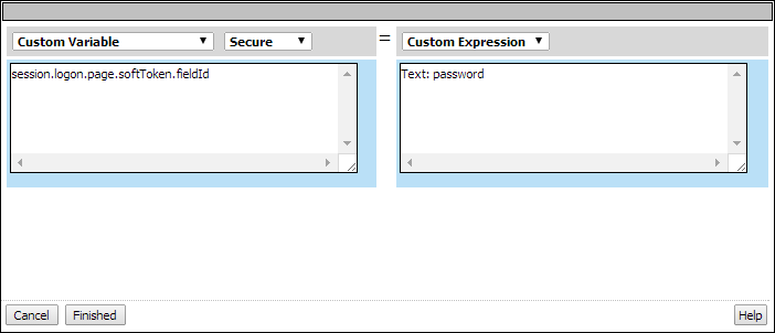 Variable Assign access policy item popup screen for adding a new entry