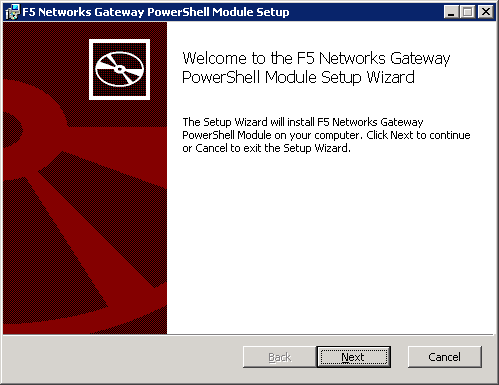 F5 Networks Gateway PowerShell Module Setup Wizard