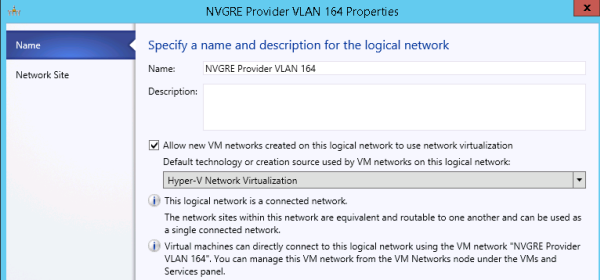 Specifying a logical network