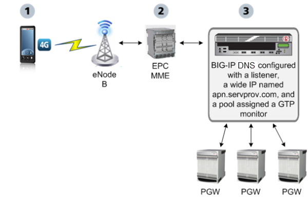BIG-IP DNS monitoring packet gateways